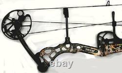 Lefty Bear Archery Attitude Left Compound Bow 70# 7 Flèches