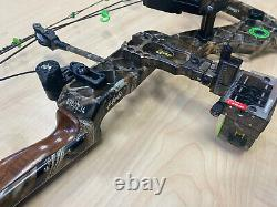 Mathews Heli-m Compound Hunting Bow With Sight, Quiver, 5 Arrows, 70 Dw 26 Dl, Rh