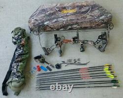 Mathews Switchback Xt Lh Bow 60 Lb 29 Flèche Case Kit Prêt À La Main Gauche Hunt