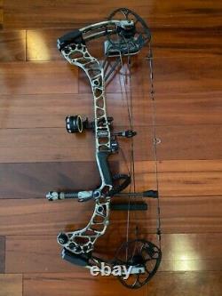 Mathews Vertix Compound Hunting Bow Chargé D'accessoires Et De Flèches