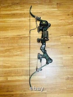 Mint Oneida Eagle X80 Aero Force Fishing Hunting Bow Right Med 30-60-80 Lb