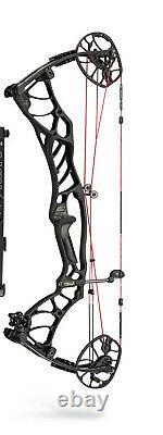 Nouveau Hoyt Helix Turbo Compound Hunting Bow Rh 2020 Hoyt Helix Turbo Compound Bow Rh 70lb 29.5 Black Withred Strings