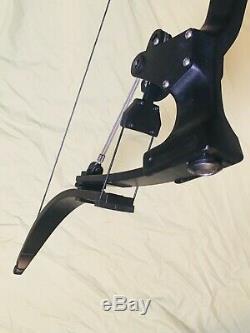 Oneida Personnalisé Noir Strike Eagle Bow Pêche Hunt Droit Court Tirage 15-35-55 Lbs