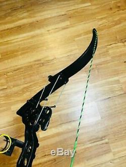 Rare Oneidas Black Eagle 2 Fsl Bow De Pêche Rh Hunting 20-35-55 Lb 27-30 Tirage Au Sort