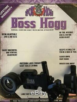 Spot Hogg Boss Hogg. 019 Micro-réglage Simple Broche Chasse À L'arc Vue Lumière Withsight