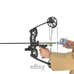 Tir À L'arc 16 Mini Arc À Poulies Set 35lbs Droite Main Gauche Laser Sight Flèches Hunt