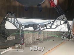 Tir À L'arc 2019 Hoyt Helix 27-30 60-70lb Rh Tempête Gris Composé Chasse À L'arc