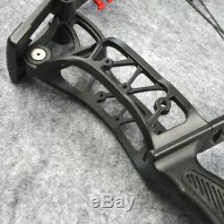 Tir À L'arc Arc À Poulies 30-55lbs À Double Usage Catapult Billes En Acier Flèches En Aluminium Hunt