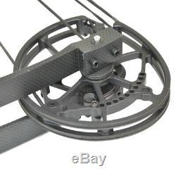 Tir À L'arc Catapulte Arc À Poulies Bille D'acier Chasse À L'arc À Double Usage 40-60lbs