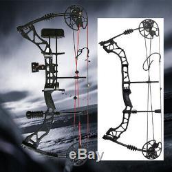 Tir À L'arc De Chasse Composé Ajustable Arc Extérieur Noir Cible Sport Bow