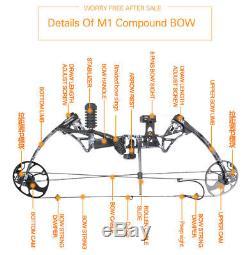 Topoint M1 15-70lb Arc À Poulies Et Chasse Chasse Cible Tir À L'arc Cnc Dual Cam Hei