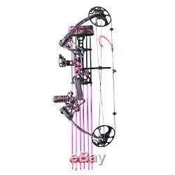 Topoint M1 19-70 Lbs Femme Fille Arc À Poulies Flèche Chasse 19-30 Pink Archery