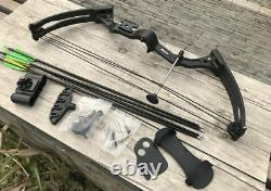 Traditionnelle Compound Bow Black Camo 20kgs Chasse Tir À L'arc Pêche Sports De Plein Air
