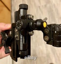 Trophy Ridge React One Pro Rh Simple Pin Bow Sight Noir Utilisé Pour La Chasse Grand