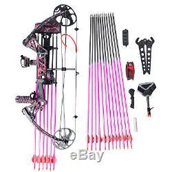 USA Sell Women Archery M1 19-30 / 19-70lbs. Trousse De Chasse À La Flèche Avec Arc À Poulies Muddy Girl