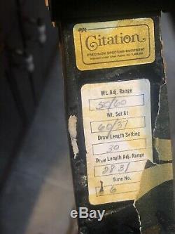 Vintage Pse Citation Tir À L'arc Chasse À L'arc Flèches Bois Limbs & Rare