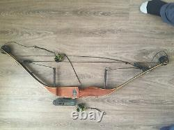 Vintage Wood Browning Tracker Hunting Compound Bow Bear Archery Sure Hit Site