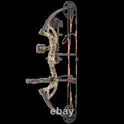 @new@ Bear Cruzer G2 Rth Compound Bow Hunting Package! Realtree Edge Lh 10-70lb
